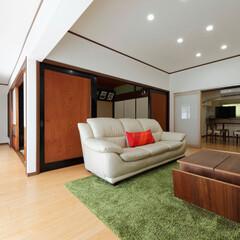縁側/日本建築/日本家屋/古民家/リビング/間取り変更/... 縁側をリビングの一部にして、開放感を出し…