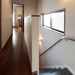 手すり/階段/安全な家/廊下/2階/ホール/... 手すり付きの階段・2階廊下・ホール(加古…