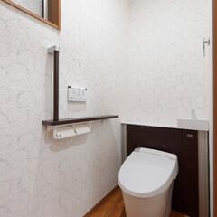 下水切り替え/下水道工事/水洗トイレ/トイレリフォーム/リフォレ/リクシル 下水切り替え工事を行い、水洗トイレにリフ…