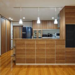 キッチンリフォーム/キッチン収納/対面キッチン/食器収納 キッチン前面にも収納たっぷり(加古川市K…