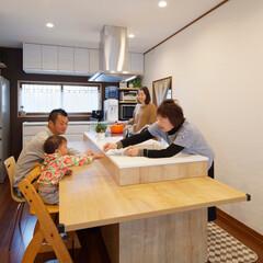 家事/料理/片づけ/家事楽/キッチンカウンター/カウンター付きキッチン/... 食事の準備・片付けがラクチンなカウンター…