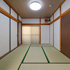 和室リフォーム/畳/襖/左官/クロス/内装リフォーム 和室の畳や襖を一新。左官壁はクロス仕上げ…