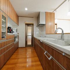 キッチン収納/対面キッチン/カップボード/食器棚 収納たっぷりな対面キッチン(加古川市K様…