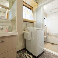 洗面所/収納/キャビネット/造作棚/収納棚 洗剤やタオルなど物が増えがちな洗面所はキ…