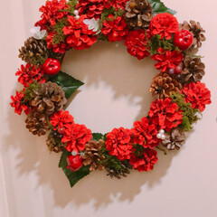 ハンドメイド/クリスマス/クリスマスリース/松ぼっくり/手作り/ペイント/... #ハンドメイド #手作り #松ぼっくり …