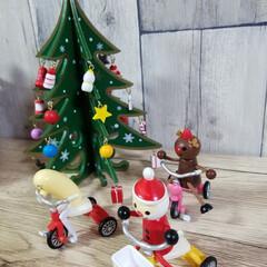 たこ助さん/サンタクロースとトナカイ/Christmas/雑貨/クリスマス サンタクロースさん&となかいさん、今年は…