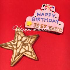 パパ/アイシングクッキー/お誕生日/キッチン/フード/グルメ/... パパのお誕生日が近いのでアイシングクッキ…