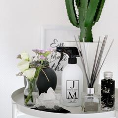 ジェームズマーティン フレッシュサニタイザー 500ML スプレー | JAMES MARTIN(トリートメント、ローション)を使ったクチコミ「玄関インテリアにお花を飾ってみました✨🌷…」