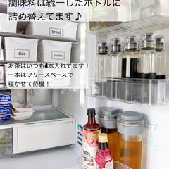キッチン/カゴ収納/冷蔵庫整理/冷蔵庫収納/冷蔵庫/収納/... 久しぶりに冷蔵庫収納を見直しつつ掃除しま…(3枚目)