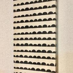 ファブリックパネル/DIY/雑貨/100均/ダイソー/インテリア/... ダイソー商品だけで作ったファブリックパネ…(1枚目)