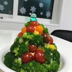 クリスマスツリー クリスマスツリー風ポテトサラダ🎶 引越し…(1枚目)