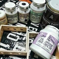 ターナー色彩 ダストメディウム 水性 上塗り 200ml | ターナー(ペンキ、塗料)を使ったクチコミ「私の手作り・DIYに欠かせないアイテム達…」(1枚目)
