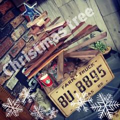 クリスマス/DIY/クリスマスツリー/Black & Decker/男前インテリア/木工/... 端材を使ってChristmas tree…
