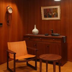 リビングチェア/チェア/ウォールナット 革は木部と同様に年月を重ねるごとに味わい…