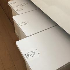 無印/無印良品/無印良品ダストボックス/無印良品ゴミ箱/シンプル シンプルすぎるゴミ箱。 やっぱり無印良品…