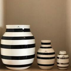 ケーラー/オマジオ/花瓶/モノトーン/インテリア雑貨/北欧インテリア/... ケーラーオマジオを並べてみる・・・。 左…