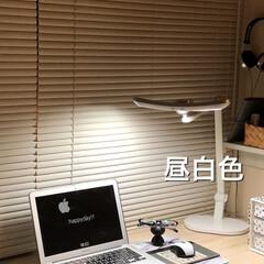 ブログ更新/デスクライト/デスク周り/パソコンスペース/机/私の部屋/... お気に入りのデスクライト。 今までなかっ…