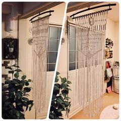 マクラメ編み/タペストリー/DIY/雑貨/100均/セリア/... 部屋に馴染むタペストリーを探して、、、 …