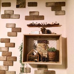 リフォーム/DIY/雑貨/100均/セリア/ダイソー/... リビング側の壁の一部です(*^^*)  …