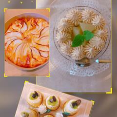 ミイの腕時計/cookpadプラス/夕焼け/リンゴのケーキ/アールグレイピーチケーキ/シャインマスカットプチケーキ/... こんばんは(*⌒▽⌒*) 夏バテから、な…