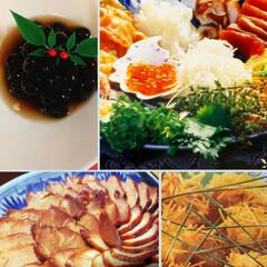 黒豆/うずら卵/チャーシュー/お正月/手巻き寿司/おうちごはん 北海道の知人に新鮮な海の幸を送っていただ…