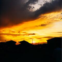 夕景 綺麗な夕景でした。(^-^)皆さん、あり…