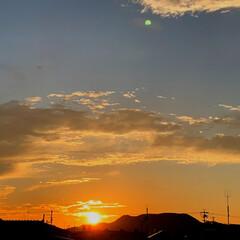 夕焼け/秋の空 まだ、暑いですが、空は秋を感じ日の落ちる…(2枚目)