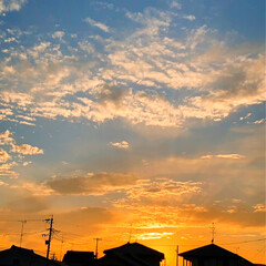 夕焼け/秋の空 まだ、暑いですが、空は秋を感じ日の落ちる…