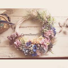 Handmade/Flower/癒やし/花のある暮らし/花雑貨/インテリア/... 転勤される方へのプレゼントとしてお作りし…