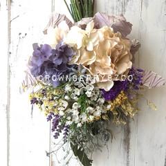 花のある暮らし/花のある生活/スワッグ/花雑貨/花/雑貨/...   すみれ色のスワッグ  〜エキマエカフ…