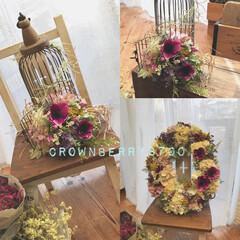 花のある生活/飾り/花/雑貨/インテリア/ハンドメイド 和風なお家に合うような、リースと鳥かごア…