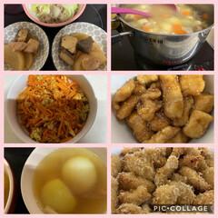 クラシル/デリッシュキッチン/macaroni/うちのわんこ達/我が家のおかず達/お弁当 ①左上︎︎☺︎ぶり大根、左2︎︎☺︎人参…