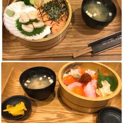 小樽海鮮丼エン/グルメ/おでかけ 小樽お出かけ お昼ご飯🤗💕 海鮮丼めっち…