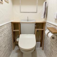 minneやってます/Facebookやってます/インスタやってます/Room Clipやってます/赤松集成材/杉角材/... トイレ改造計画。途中経過。 タンクレスト…