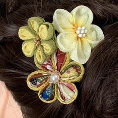 成人式/卒業式/minneで販売します/minne/ATELIER LA LUNE/Facebookやってます/... つまみ細工の髪飾り。こちらは2wayクリ…(3枚目)