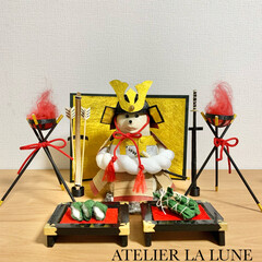 https://minne.com.../ATELIER LA LUNE/しろくま貯金箱着せ替え/しろくま貯金箱/コロナウイルスが早く終息しますように/コロナに負けない/... しろくま着せ替えの五月人形セット、やっと…(1枚目)