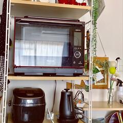 圧力IH炊飯器/電気ケトル/オーブンレンジ/キッチン家電収納/フォロー大歓迎/LIMIAインテリア部/...
