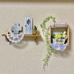 Roomclip/飾り棚ディスプレイ/ミニドア/教会マグネット/クロスモチーフ/Minneで買ったもの/... RoomClipのフォロワーさんから誕プ…