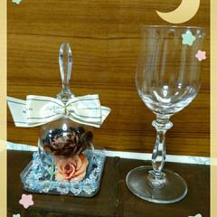 ワイングラス/インテリア/雑貨/100均 お気に入りのクリスタルのワイングラスを割…