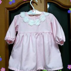 双子のたまご/ベビー服ワンピース/ベビー服手作り/ハンドメイド/暮らし 桜の開花も間近というのに、明日はまた、寒…(1枚目)