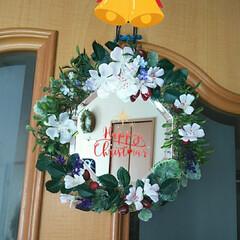 ミラー付リース/ワッツ/クリスマス2019/リミアの冬暮らし/ダイソー/セリア/... Merry Christmas✵✰(*˘…