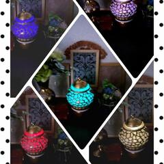 花瓶でランプ作成/ハンドメイド/雑貨/ダイソー 昨日のランプは光ると、こんな感じです。 …