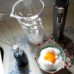 コードレスハンドブレンダー/たまごかけご飯/クイジナート 作ってみました。  ワンランク上の卵かけ…