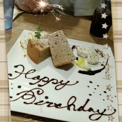 デザート/誕生日/グルメ お肉料理が売りのお店で、ランチを予約。主…
