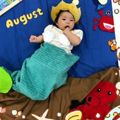人魚姫になっちゃった/夏のディスプレイ/令和の一枚/リミアで大喜利 生まれて初めての夏🌻。 「海の底は、とて…