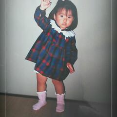 思い出/子供服ワンピース/ハンドメイド ワンピース着ている娘の写真が、ありました…