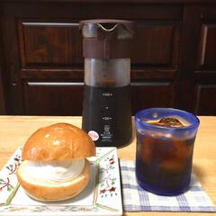水出し珈琲ポット   ハリオ(ドリップポット)を使ったクチコミ「ハリオの水出しコーヒーです。 冷蔵庫で8…」(1枚目)
