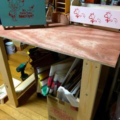 机/2×4/作業台/DIY 作業部屋に欲しかった作業台を2×4材と合…