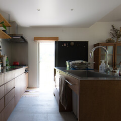 新築/不動産・住宅/家/お家/建築/設計/... 土間スタイルのキッチンです。  キッチン…