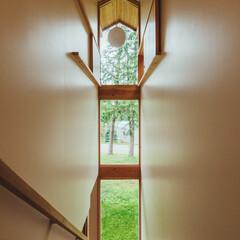 階段室/階段/窓/まど/コテージ/不動産・住宅/... キャンプ場内のコテージです。 PICA …